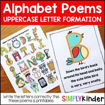 Alphabet Poems - Upper Case Letter Writing Poems