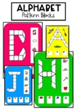 Upper Case Letters Alphabet Pattern Blocks