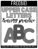 Upper Case Letters Trace Inside the Lines - FREEBIE