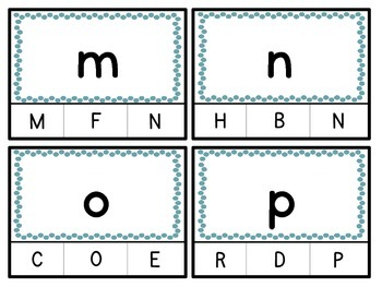 Upper Case / Lower Case Letter / Beginning Consonant Sound Clothes Pin Center