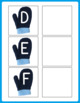 Mitten Letter Matching Uppercase and Lowercase - Winter