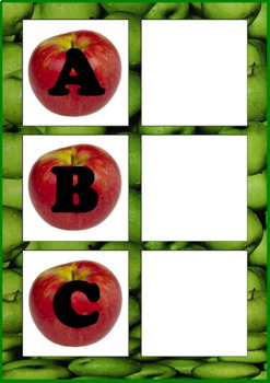 Apples Letter Matching Uppercase and Lowercase