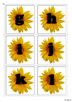 Upper Case & Lower Case Letter Matching Activity - Sunflowers