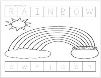 Upper Case Lower Case Match (Rainbow)