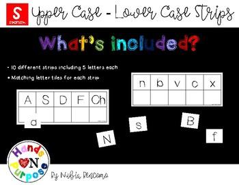 Upper Case - Lower Case Strips - Spanish Version