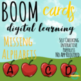 Upper Case Missing Alphabets Boom cards Distance Learning