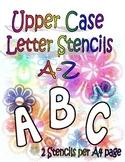 Upper Case Stencils A-Z (2 letters per page)