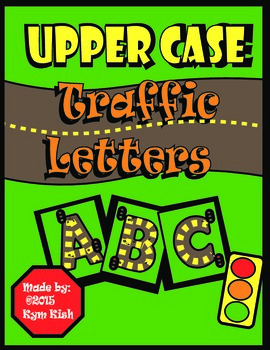 Upper Case Traffic Letter Tracers