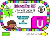 Upper Case U Set #1 - Interactive PDF  3 Digital Activitie