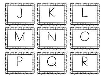 Upper Case and Lower Case Letter Cards with Border