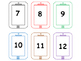Matching Uppercase and Lowercase Letters Number Cards 0-20