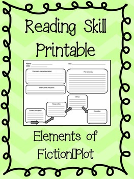 FREE - Graphic Organizer: Elements of Fiction