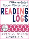 Upper Elementary 3-5 Reading Logs {Print & Go}