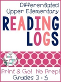 Upper Elementary 3-5 Reading Logs {Print & Go}