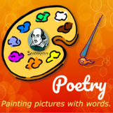 Upper Elementary Art Lesson and Presentation: Poetry Month
