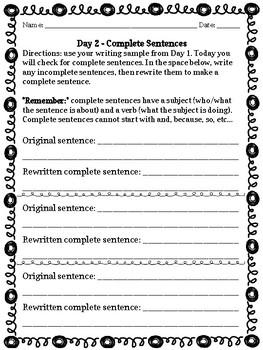 Upper Elementary Authentic Grammar Practice