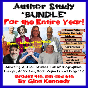 """Author of the Month"" for the Entire Year, Eleven Author Studies!"