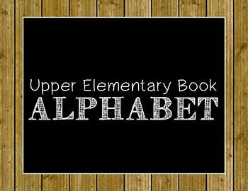 Upper Elementary Book Alphabet Poster Set
