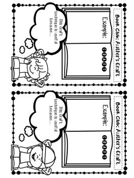 Upper Elementary Book Club Handouts
