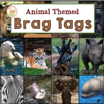 Upper Elementary Brag Tags For Big Kids:  Animal Themed
