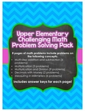Upper Elementary Challenging Math Problem Solving