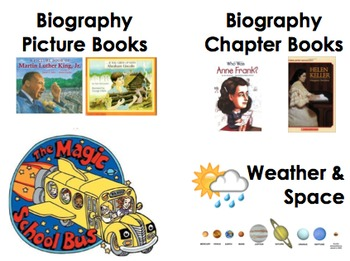 Upper Elementary Classroom Library Labels