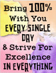 Upper Elementary Classroom  Rules Watercolor Theme