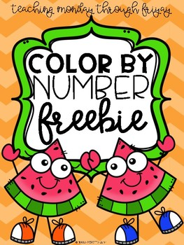 Upper Elementary Color By Number Freebie!
