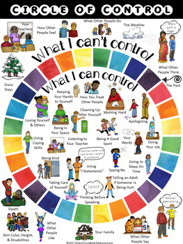 Upper Elementary Counseling: Things I Can & Can't Control