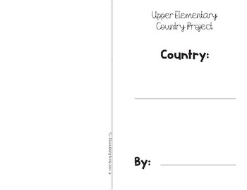 Upper Elementary Country Research Project Flipbook