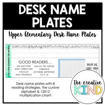 Upper Elementary Desk Name Plates