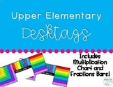 Upper Elementary Desk Tags