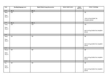 Upper Elementary Digital Lesson Plan Template