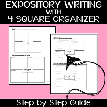 Expository/Informational Writing with 30 Prompts & Four Square Organizers
