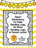 Upper Elementary In Class Reading Logs, At Home Reading Lo