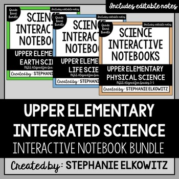 Upper Elementary Integrated Science Interactive Notebook Bundle