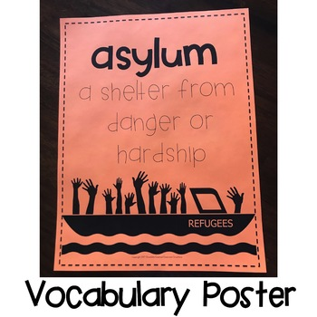 """Upper Elementary Interactive Read Aloud """"Out"""" A Refugee Story"""