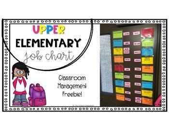 Upper Elementary Job Chart
