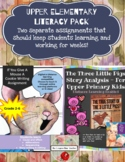 Upper Elementary Literacy Bundle for Online Learning.