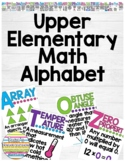 Upper Elementary Math Alphabet