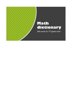 Upper Elementary Math Dictionary