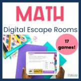 Upper Elementary Math Digital Escape Room Bundle Distance