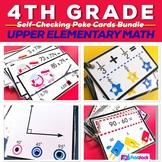 4th Grade Math Centers Poke Card Bundle