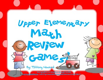 Upper Elementary Math Review Games Package
