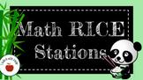 Upper Elementary Math Rotation Stations ( R.I.C.E )