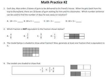 Upper Elementary Math STAAR Prep - Mixed Review & Problem of the Day