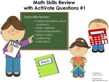 Upper Elementary Math Skills Review Flipchart with ActiVote Questions #1