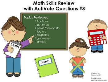 Upper Elementary Math Skills Review Flipchart with ActiVote Questions #3