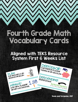 Upper Elementary Math Vocabulary Cards