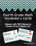 Upper Elementary Math Vocabulary Cards